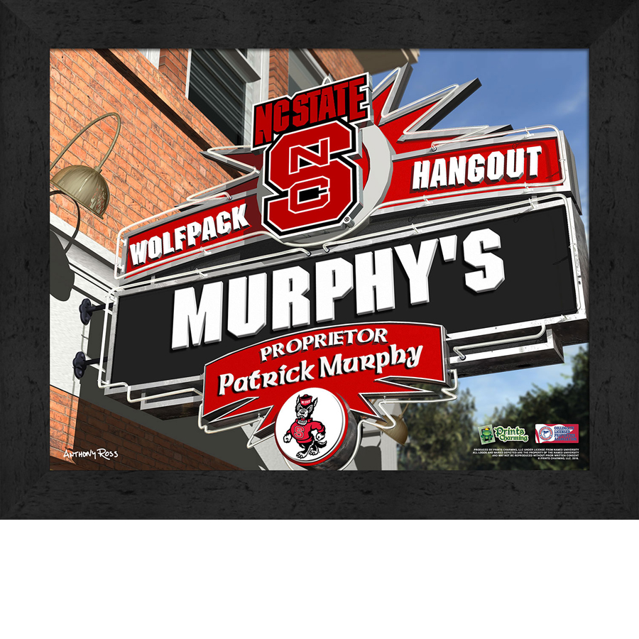 NCAA College Sports Pub Personalized Prints