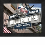 New England Patriots Personalized Sports Room / Pub Sign Print