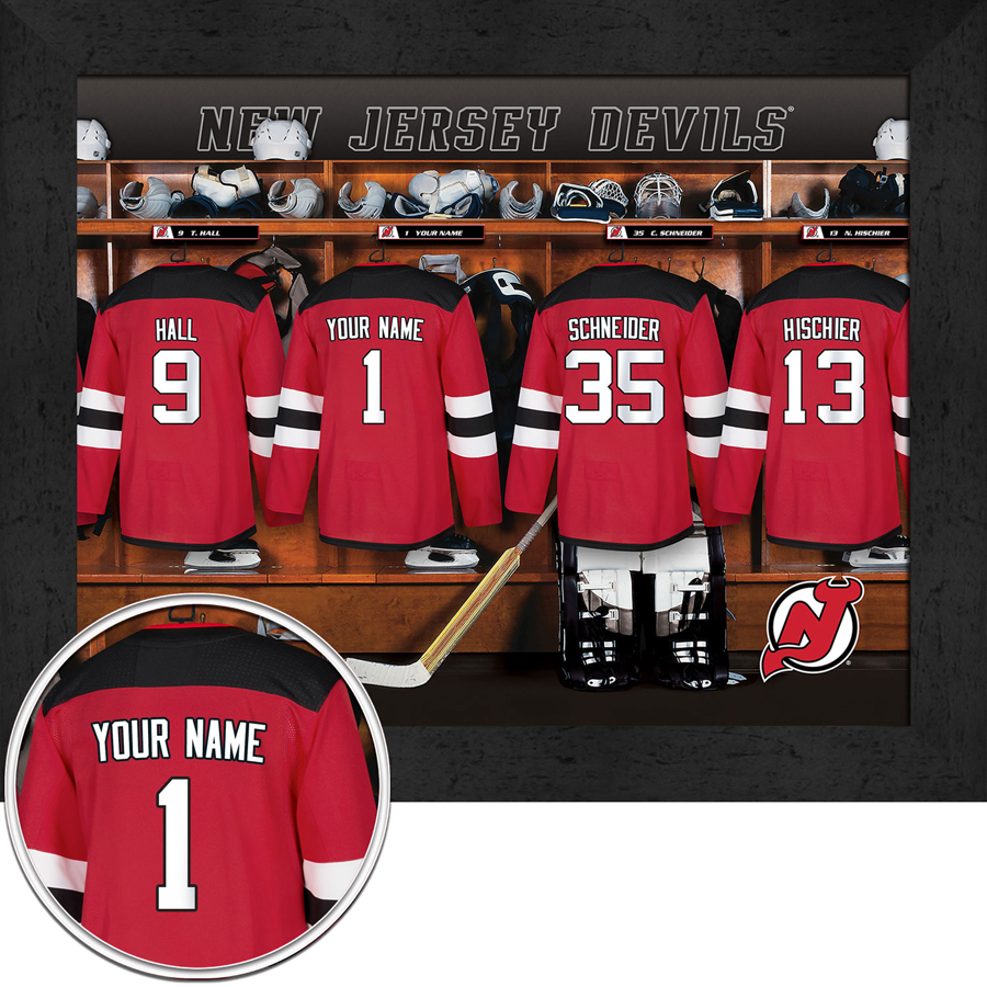 quality design 112a2 06427 New Jersey Devils Personalized Locker Room Print