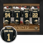 New Orleans Saints Personalized Locker Room Print