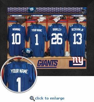New York Giants Personalized Locker Room Print