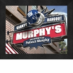 New York Giants Personalized Sports Room / Pub Sign Print