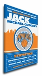 New York Knicks Personalized Canvas Birth Announcement - Baby Gift