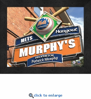 New York Mets Personalized Sports Room / Pub Sign Print