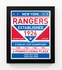 New York Rangers Dual Tone Team Sign Print Framed