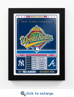 New York Yankees 1996 World Series Champions Vintage Framed Print