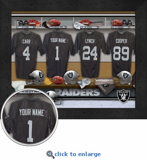 Oakland Raiders Personalized Locker Room Print