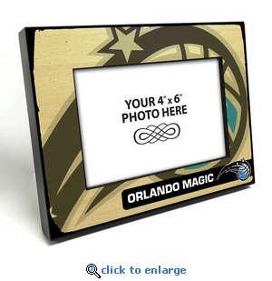 Orlando Magic Black Wood Edge 4x6 inch Picture Frame