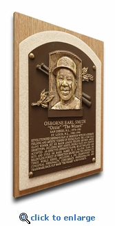 Ozzie Smith Baseball Hall of Fame Plaque on Canvas (small) - St Louis Cardinals