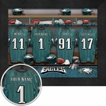 Philadelphia Eagles Personalized Locker Room Print