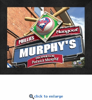 Philadelphia Phillies Personalized Sports Room / Pub Sign Print