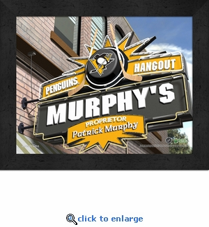 Pittsburgh Penguins Personalized Sports Room / Pub Sign Print