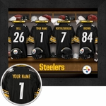 Pittsburgh Steelers Personalized Locker Room Print