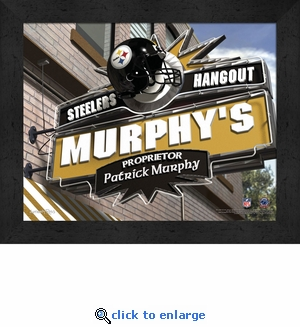 Pittsburgh Steelers Personalized Sports Room / Pub Sign Print
