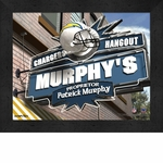 Los Angeles Chargers Personalized Sports Room / Pub Sign Print