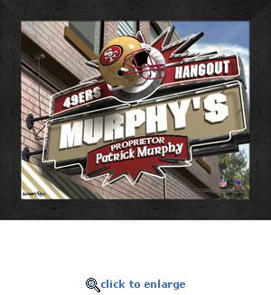 San Francisco 49ers Personalized Sports Room / Pub Sign Print