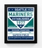Seattle Mariners Dual Tone Team Sign Print Framed