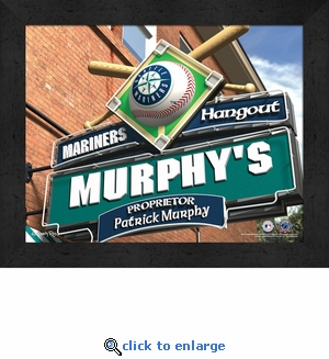 Seattle Mariners Personalized Sports Room / Pub Sign Print