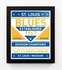 St Louis Blues Dual Tone Team Sign Print Framed