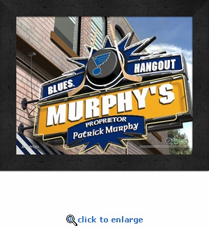 St Louis Blues Personalized Sports Room / Pub Sign Print