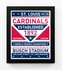 St Louis Cardinals Dual Tone Team Sign Print Framed