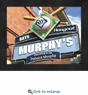 Tampa Bay Rays Personalized Sports Room / Pub Sign Print
