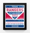 Texas Rangers Dual Tone Team Sign Print Framed