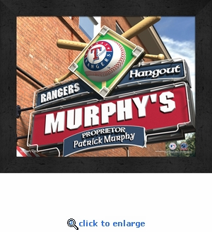 Texas Rangers Personalized Sports Room / Pub Sign Print
