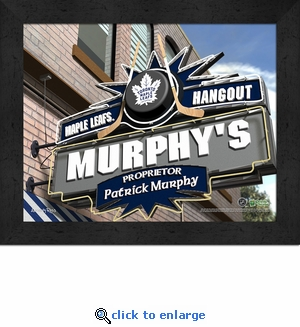 Toronto Maple Leafs Personalized Sports Room / Pub Sign Print