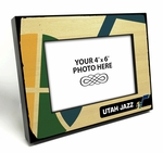 Utah Jazz Black Wood Edge 4x6 inch Picture Frame