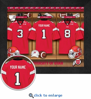 Utah Utes Personalized Football Locker Room Print