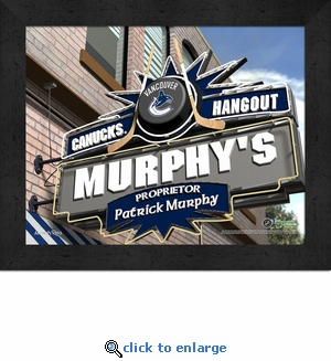 Vancouver Canucks Personalized Sports Room / Pub Sign Print