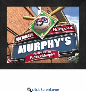 Washington Nationals Personalized Sports Room / Pub Sign Print