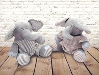 Eleanor and Elliot Elephants---Now available in Two Sizes!