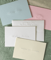 Classic Embossed Fold Notes
