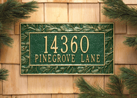 Decorative Plaque - Pinecone, Aspen & Oakleaf