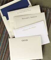 Elegant Embossed Border Cards