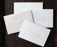 Embossed Single Name Notes