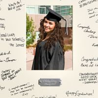 Graduation Signature Frame with Personalized Plate