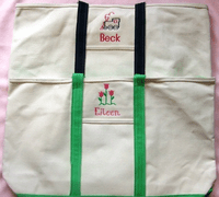 Large Zippered Canvas Boat Bags