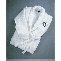 Monogrammed White Terry Robe