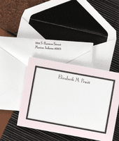 Pink Frame Cards w/Black Lined Envelopes