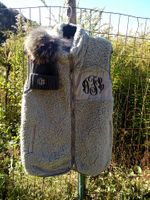Sherpa Fleece Vest in Gray and Cream-ONLY 2 LEFT!!!