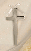 Silver Plated Cross Ornament
