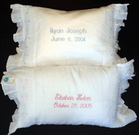 Smocked Linen Baby Pillows