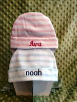 Striped Newborn Hat