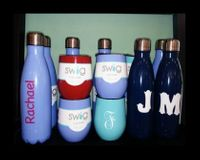 Water Bottles and Stemless Wine with Top from Swig