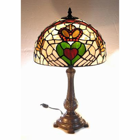 Claddagh Tiffany style lamp 18 inches
