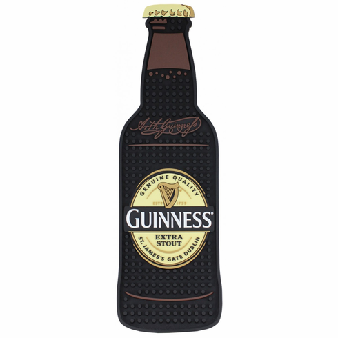 Guinness Bottle Shape PVC Bar Mat