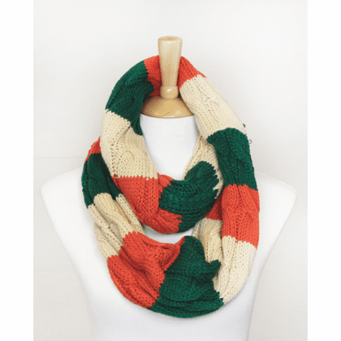 Ireland Cable Knit Infinity Scarf